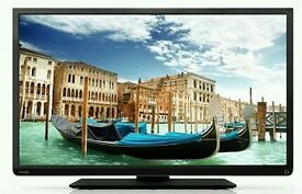 """Toshiba 40"""" LED tv built in USB media player HD freeview full hd 1080p."""
