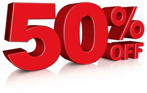 50 % off half of are store