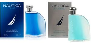 NAUTICA BLUE or NAUTICA CLASSIC * Cologne for Men * 3.4 oz * BRAND NEW IN BOX
