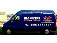 Blackpool man and van FULLY INSURED! local and long distance House removals