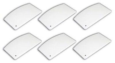 6 Pack Plastic Bowl Dough Scraper 5 X 3 White