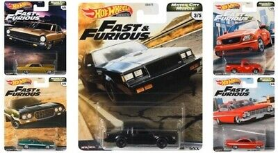 FREE SHIPPING: HOT WHEELS CAR CULTURE FAST FURIOUS MOTOR CITY MUSCLE SEALED CASE