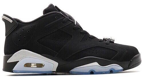 Nike Air Jordan 6 Retro Low Chrome Black BG Junior Size 6 UK 39 EUR Brand 5e9d9503f