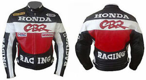 HONDA CBR RACING MOTORBIKE  LEATHER JACKET CE APPROVED