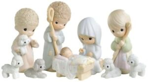 New Rare 2006 Precious Moments Set/9 Nativity Figurines