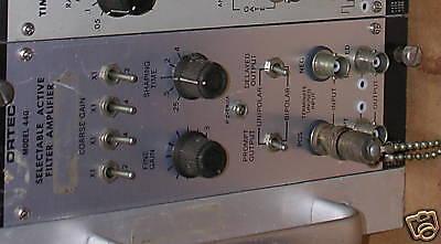 Ortec 440 Selectable Active Filter Amplifier Nim Bin