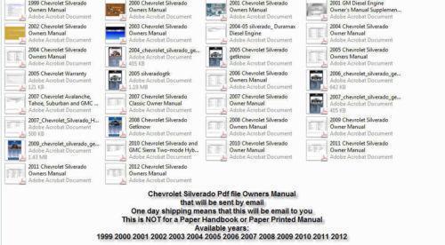 2006 silverado owners manual