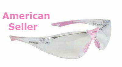 Premium WINCHESTER Ladies Shooting Safety Glasses Pink Frame / Clear (Winchester Glasses)