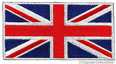 BRITISH FLAG EMBROIDERED PATCH UNION JACK ENGLAND UK GREAT BRITAIN IRON-ON blue Great Britain Flag