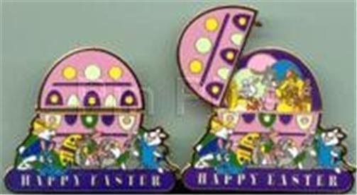 HINGED EGG HAPPY EASTER DISNEY BUNNIES Bunny 2000 LE 7500 WDW Disney PIN 4703