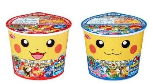 "Sapporo Ichiban""Pokemon Noodle 2 Flavors"", Pocket monster, Instant Ramen, Japan"
