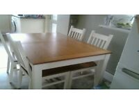 Kitchen/dining table 4 chairs