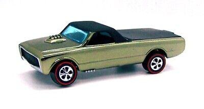1968 Hot Wheels Redline Custom Fleetside spectraflame olive w/ black interior