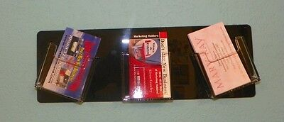 Wacky 3 Pocket Vertical Business Card Holder Clear Black Wall Mounted Hanging