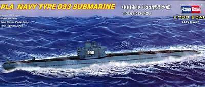 1:700 Pla Navy Type 033 Submarine - 1700 Hobbyboss Kit Model Scale