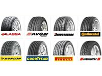 New Tyres Free Valves and Balancing, Servicing Brakes Exhausts Puncture Repairs £8 Mot
