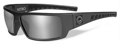 Harley-Davidson® Men's Nitro Black Sunglasses w/ Silver Flash Gray Lens (Cheap Men S Sunglasses)