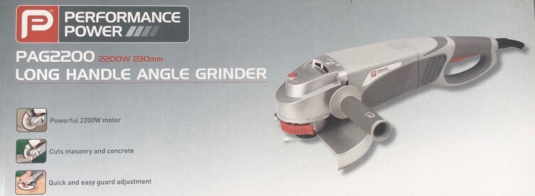 Angle Grinder 2200watts Performance Power Long Handle In