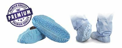 100pcs Disposable Shoe Covers Non-skid Medicalxlarge Boots Shoes - One Size