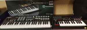 Keyboard Midi Controllers by Akai and LaunchKey