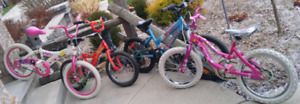 "Several Girls and Boys 16"" & 18"" Wheel Bikes"