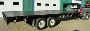 20 feet Flat bed - goose neck trailer for sale by OWNER