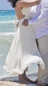 Almost brand new wedding dress tea length - $175 OBO