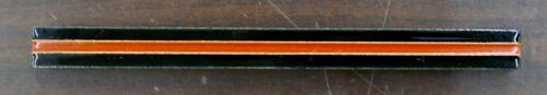 Vintage Tile Liner Black with Orange Stripe