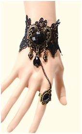 Vintage Style Lady Handmade Jewellery Gothic Lace