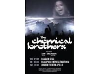 Chemical Brothers Hammersmith 11/12/16 2 x Standing tickets