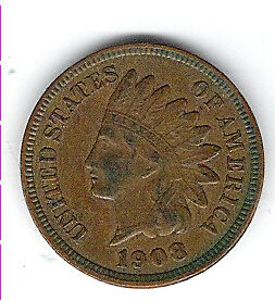 Coin 1908 USA 1 Cent Penny