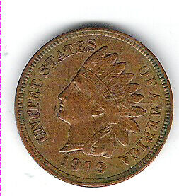 Coin 1909 USA 1 Cent Penny