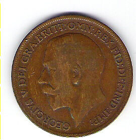 Coin 1920 Great Britain 1 Cent Penny Kingston Kingston Area image 1