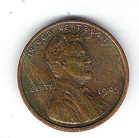 Coin 1909 USA 1 Cent Penny Lincoln Head