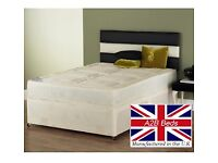 🔴🔵 SAME DAY DROP🔴🔵 Brand New Double , Small Double Divan Bed with Deep Quilt Semi Ortho Mattress