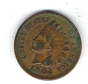Coin 1904 USA 1 Cent Penny