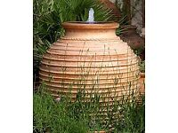 Stunning large terracotta oil jar water feature