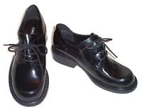 NINE WEST Black Patent Leather Lace Up Oxfords - Womens 6