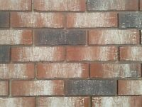 Brick tiles / slips NF658 red/black white flamed