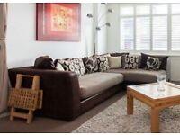 L-shape Madison Sofa with footstool