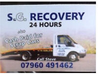 Cash Paid for Scrap Cars and 24 Hour Recovery Service