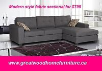 BLACK FRIDAY SALE BEGINS..BRAND NEW  FABRIC SECTIONAL...$799