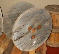 Industrial cable spools made of wood