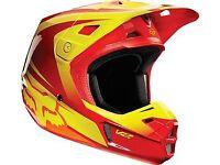 Fox v2 motorbike motocross helmet