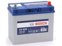 Bosch S4 020 car battery discount - 5 year guarantee almost new (used for one week)