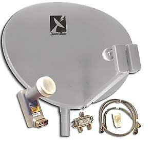 ★★★★ Satellite Dish FTA Quad LNB Disque DB9 Bell RG6 Twin Switch