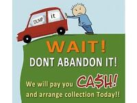 Cars and vans wanted dead or alive instant cash payed