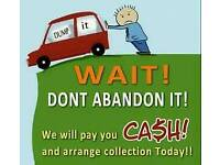 Scrap car collection anytime telephone 07786607223