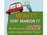 WE BUY SCRAP CARS AND VANS TOP PRICE PAID CASH