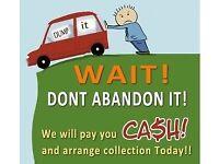 We want any scrap cars/vans/trucks...
